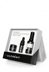 D'ALCHEMY - Zestaw podróżny - cera tłusta i mieszana AGE CANCELLATION BOOSTER TRAVEL PACK - OILY-MIXED FACE CARE